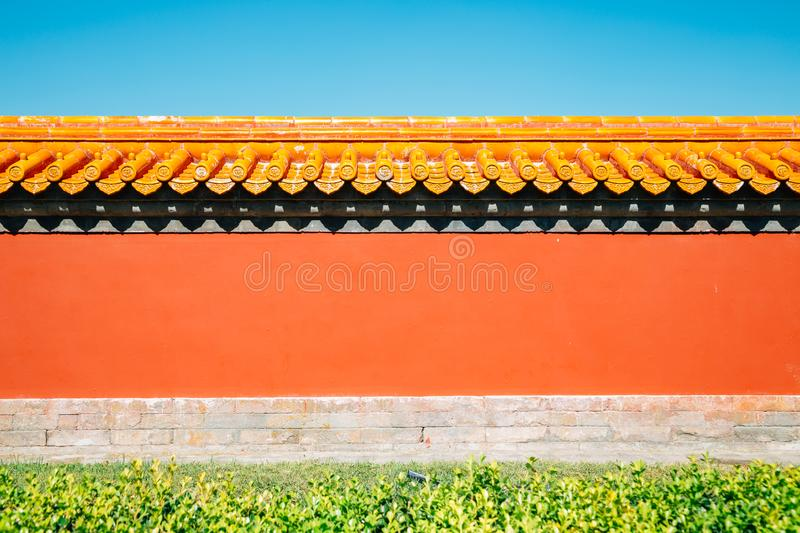 Chinese traditional wall at Temple of Earth, Ditan Park in Beijing, China. Chinese traditional wall background at Temple of Earth, Ditan Park in Beijing, China stock images