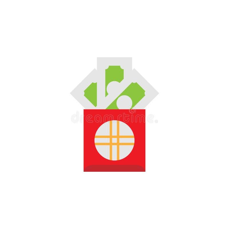 Chinese traditioneel, hongbaopictogram Element van Chinese traditionele illustratie Grafisch het ontwerppictogram van de premiekw vector illustratie