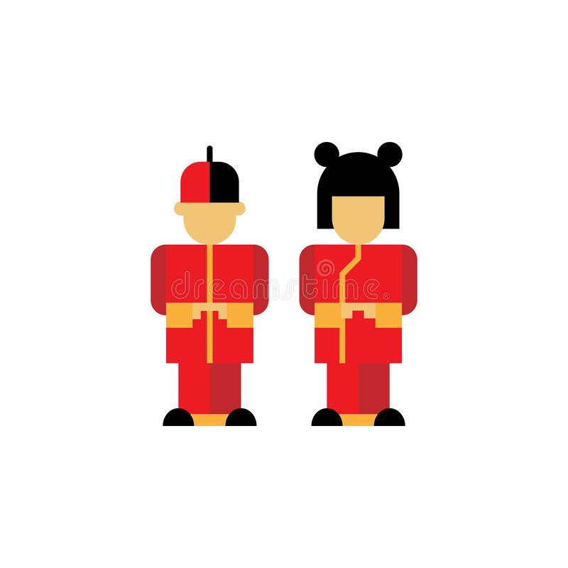 Chinese traditioneel, kinderenpictogram Element van Chinese traditionele illustratie Grafisch het ontwerppictogram van de premiek royalty-vrije illustratie
