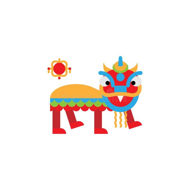Chinese traditioneel, leeuwpictogram Element van Chinese traditionele illustratie Grafisch het ontwerppictogram van de premiekwal vector illustratie
