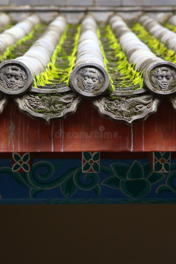 Chinese traditionele daktegel stock afbeeldingen