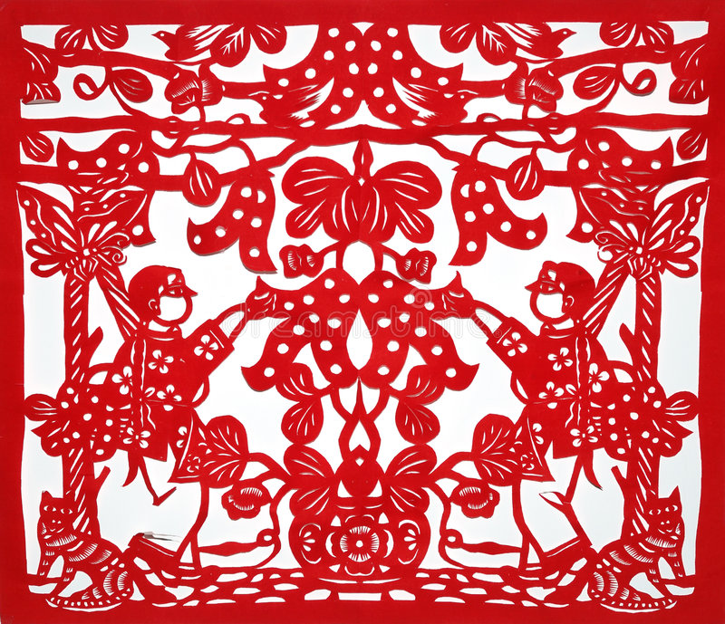 Chinese traditionele kirigami stock foto