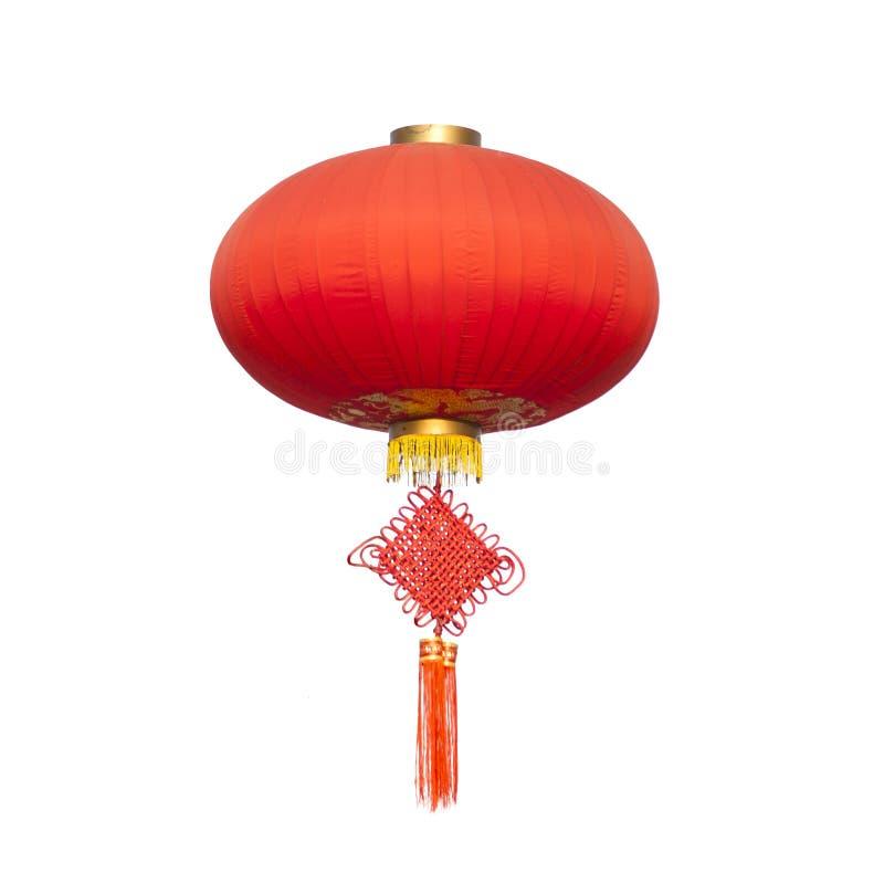 Chinese traditionele Knoop en lantaarn royalty-vrije stock foto