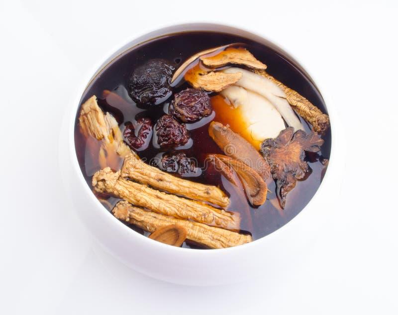 Chinese traditionele kruiden of geneeskunde de Chinese woorden is niet royalty-vrije stock foto's
