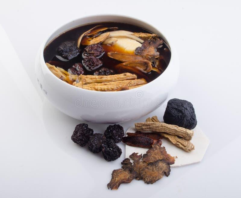 Chinese traditionele kruiden of geneeskunde de Chinese woorden is niet stock fotografie