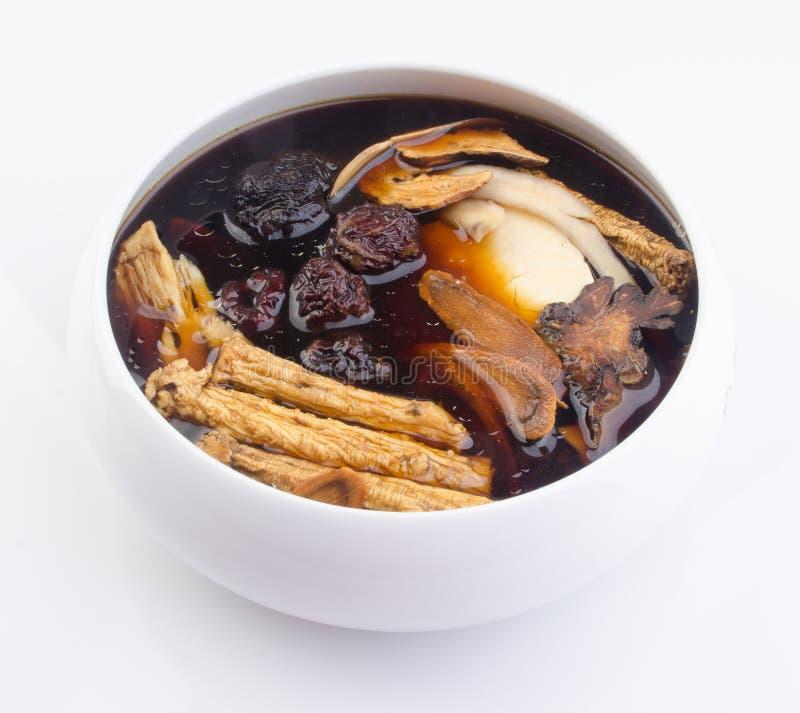 Chinese traditionele kruiden of geneeskunde de Chinese woorden is niet stock foto's