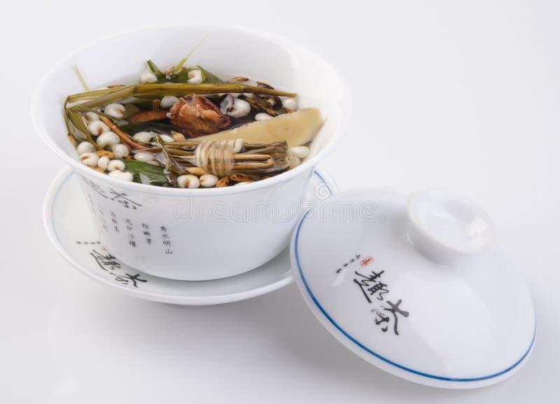 Chinese traditionele kruiden of geneeskunde de Chinese woorden is niet royalty-vrije stock foto
