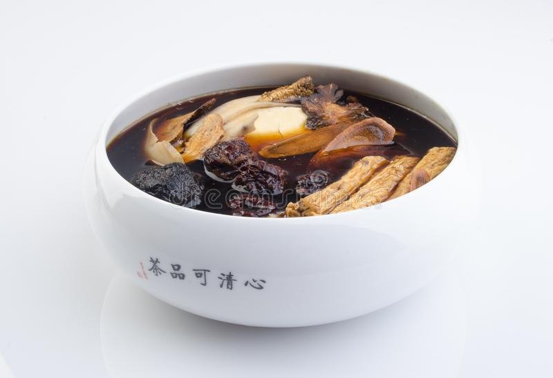Chinese traditionele kruiden of geneeskunde de Chinese woorden is niet stock afbeeldingen