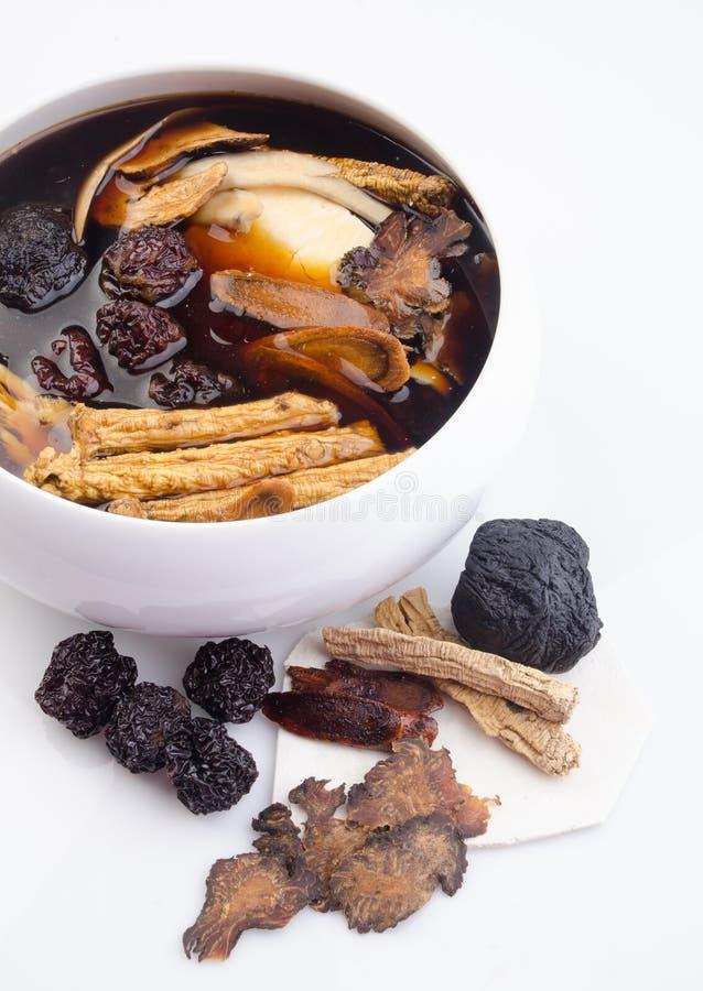 Chinese traditionele kruiden of geneeskunde de Chinese woorden is niet royalty-vrije stock afbeelding
