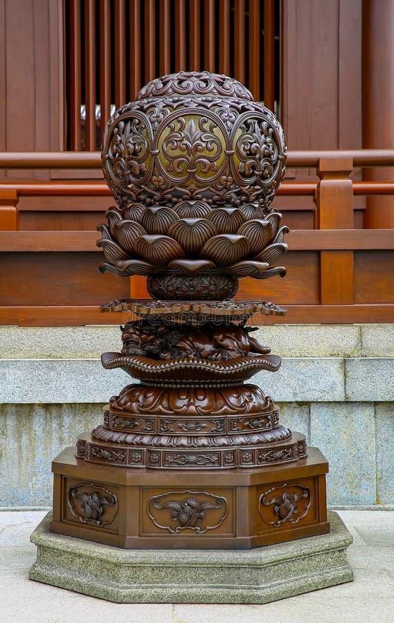 Chinese traditionele uitstekende lantaarnpost stock foto's
