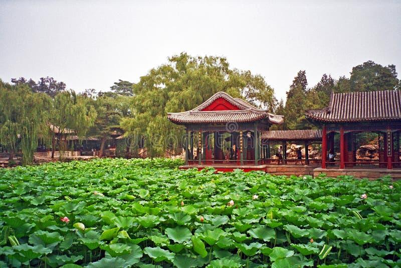 Chinese tuin in de zomerpaleis, Peking, China royalty-vrije stock fotografie