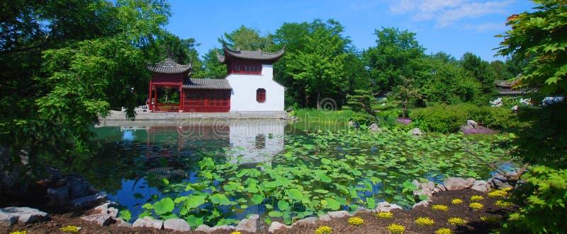 Chinese tuin van de botanische tuin van Montreal ` s stock foto's