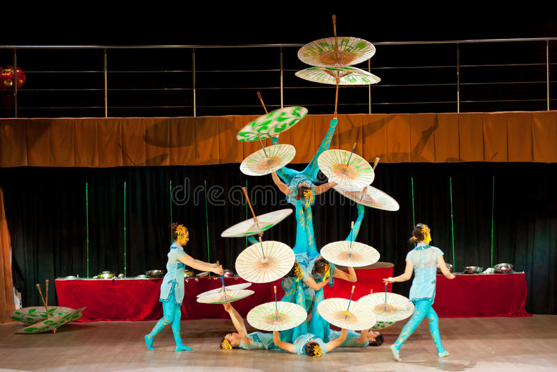 Download Chinese umbrellas editorial photography. Image of acrobatic - 28444802