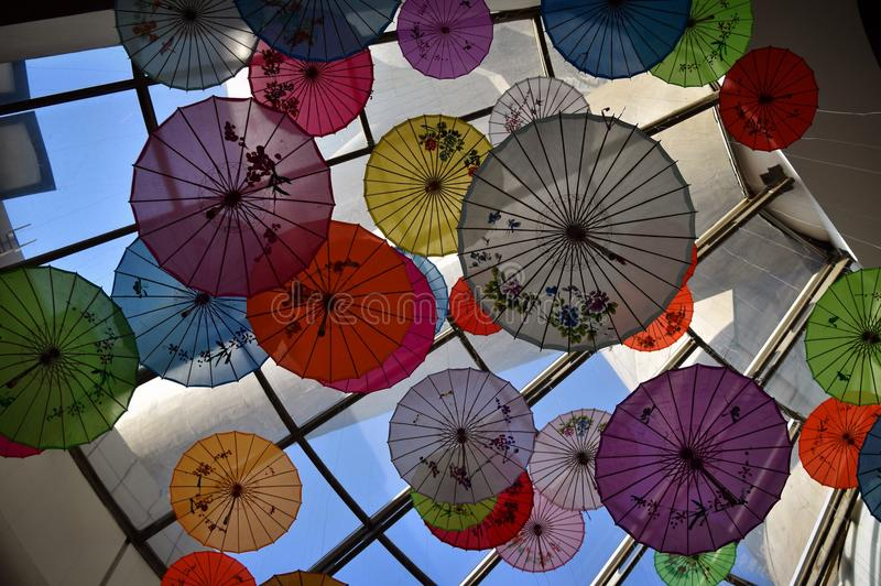 Chinese umbrellas stock image
