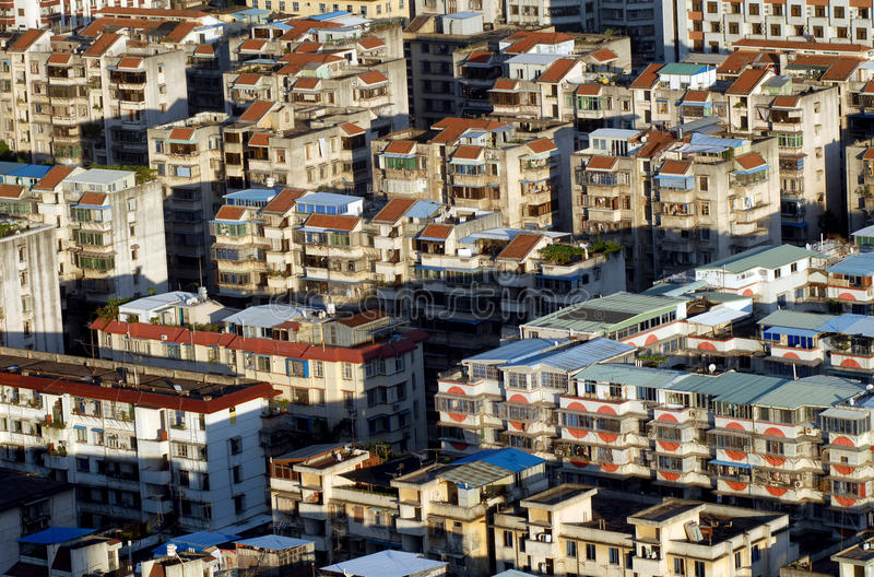 Chinese urban housing. View of urban housing in fujian province, China stock photos