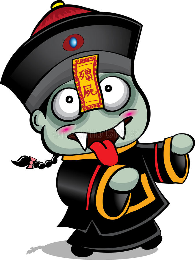 Chinese Vampire Papa stock illustration