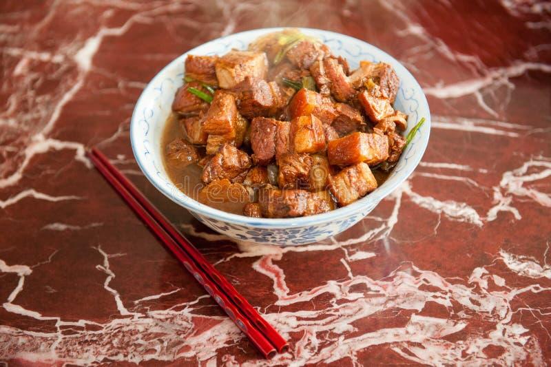 Chinese varkensvleesschotel stock fotografie