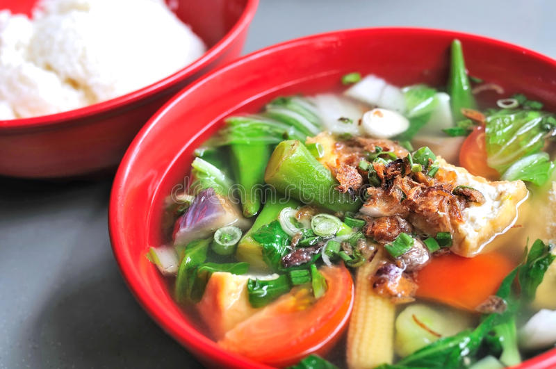 Chinese vegetable soup royalty free stock images