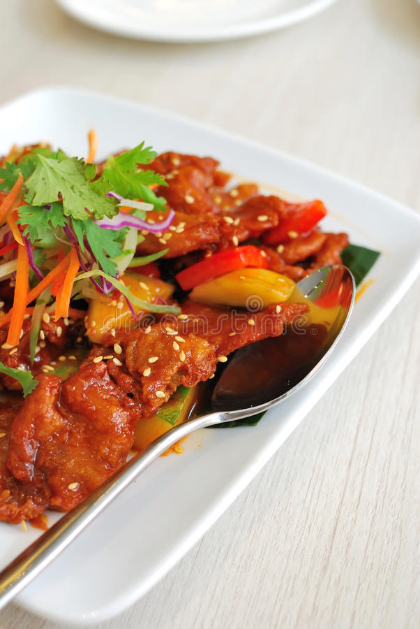 Free Chinese Vegetarian Sweet And Sour Pork Stock Photo - 13790400