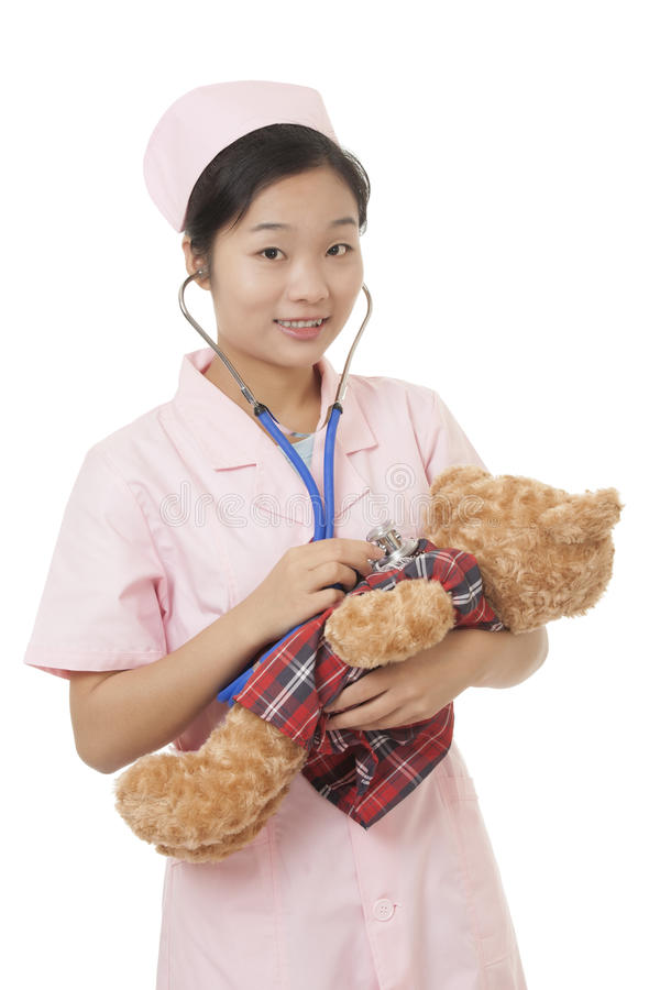 Chinese Verpleegster stock afbeeldingen