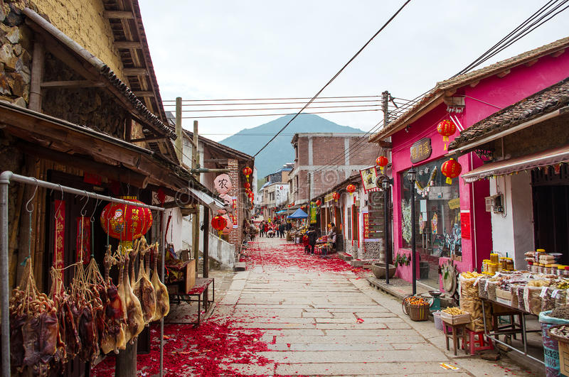 Chinese village. In chinese new year royalty free stock photography