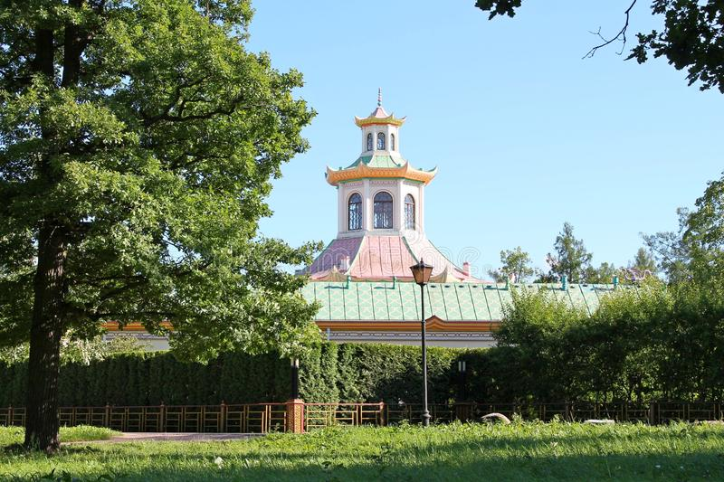 Chinese village. Alexandrovsky Park. Pushkin City. The Chinese village was built in the 1780s by architects C. Cameron and I. V. Neelov the design and initial stock photos