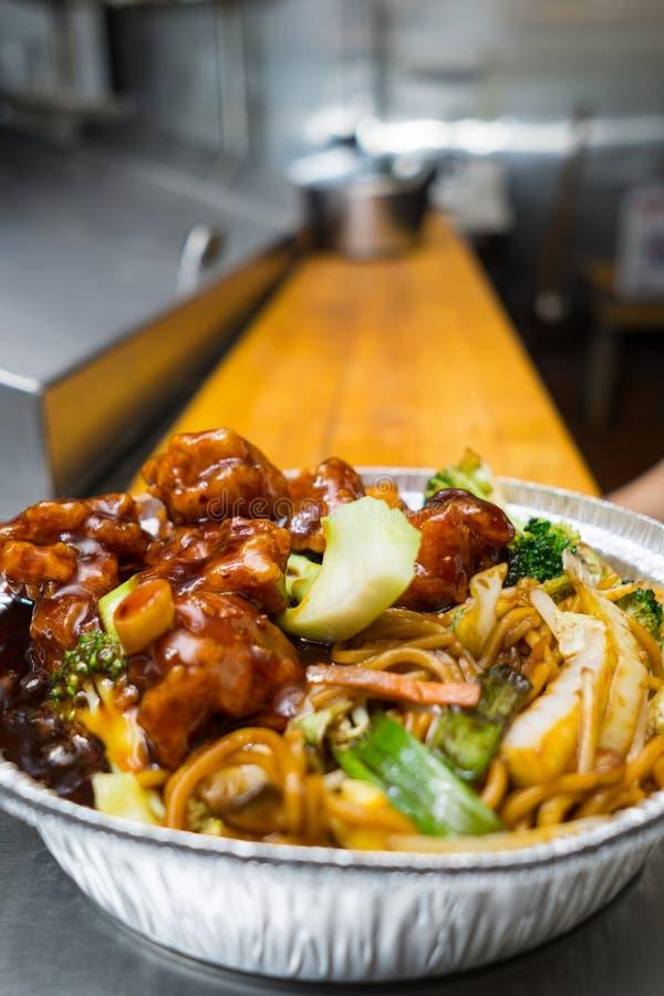 Chinese voedsel algemene tsos kip royalty-vrije stock afbeeldingen