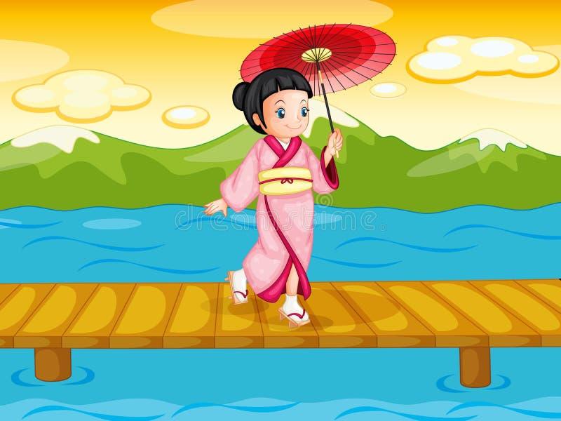 Chinese vrouw royalty-vrije illustratie