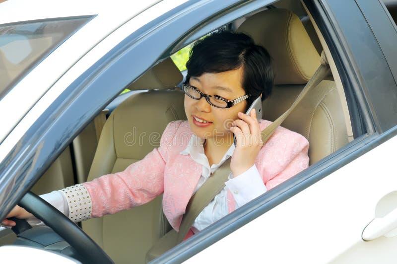 Chinese vrouwelijke bestuurder royalty-vrije stock foto's