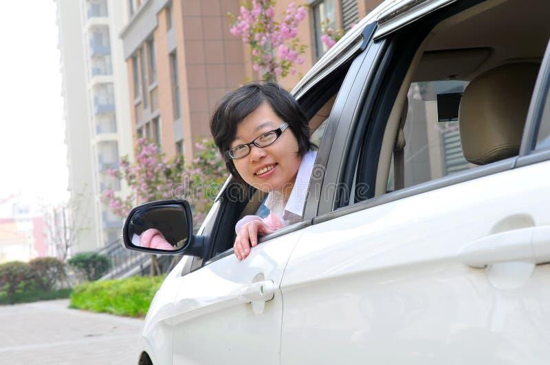 Chinese vrouwelijke bestuurder stock afbeeldingen