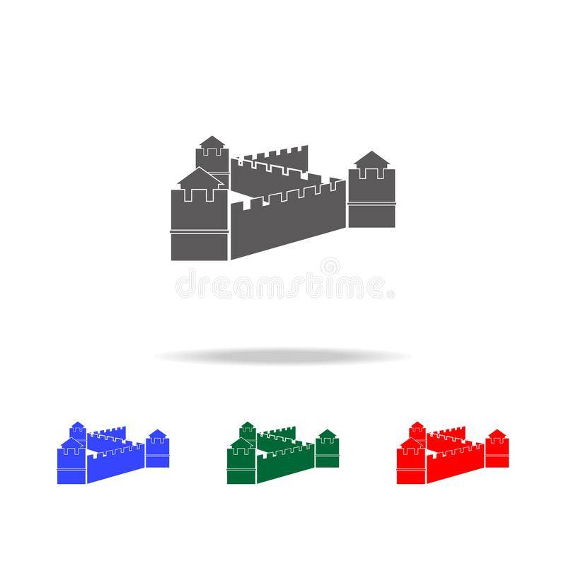 Chinese Wall icon. Elements of Chinese culture multi colored icons. Premium quality graphic design icon. Simple icon for websites, vector illustration