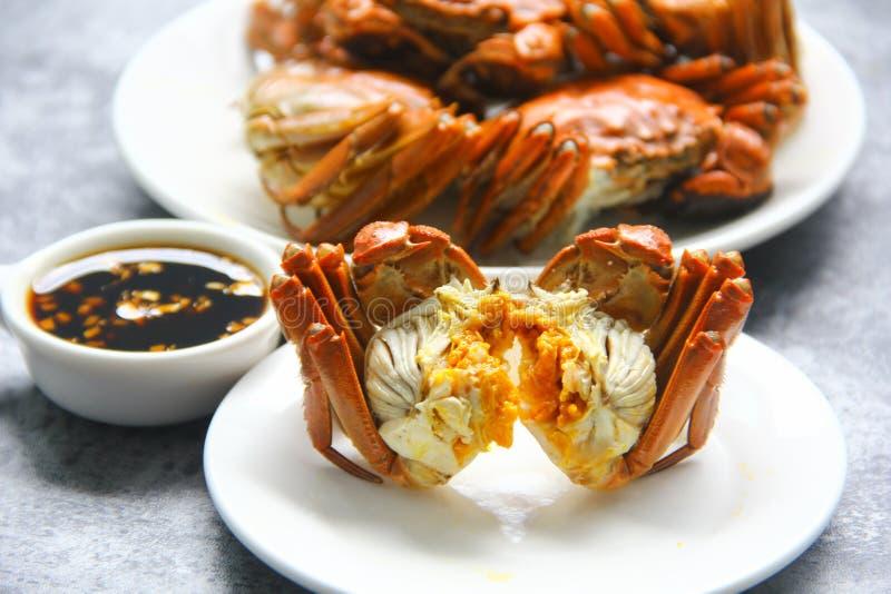 Chinese wanten krab is een heerlijk voedsel royalty-vrije stock afbeeldingen