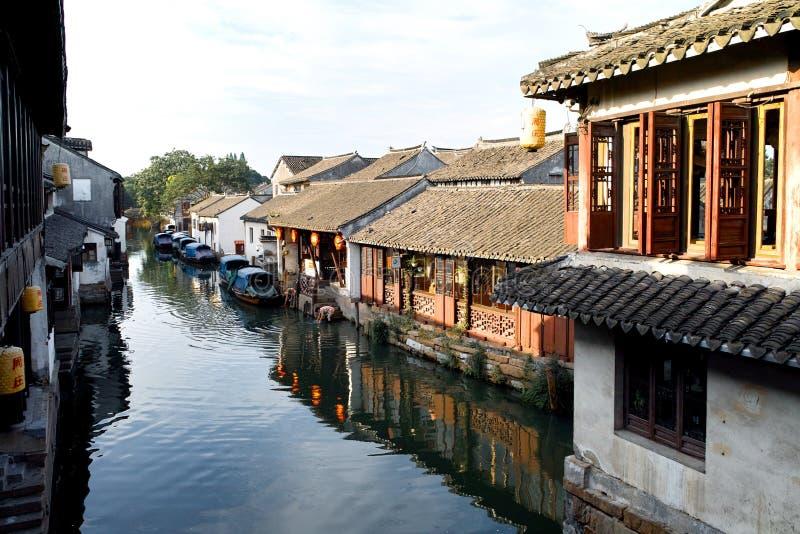 Chinese Water Town Zhouzhuang stock photography