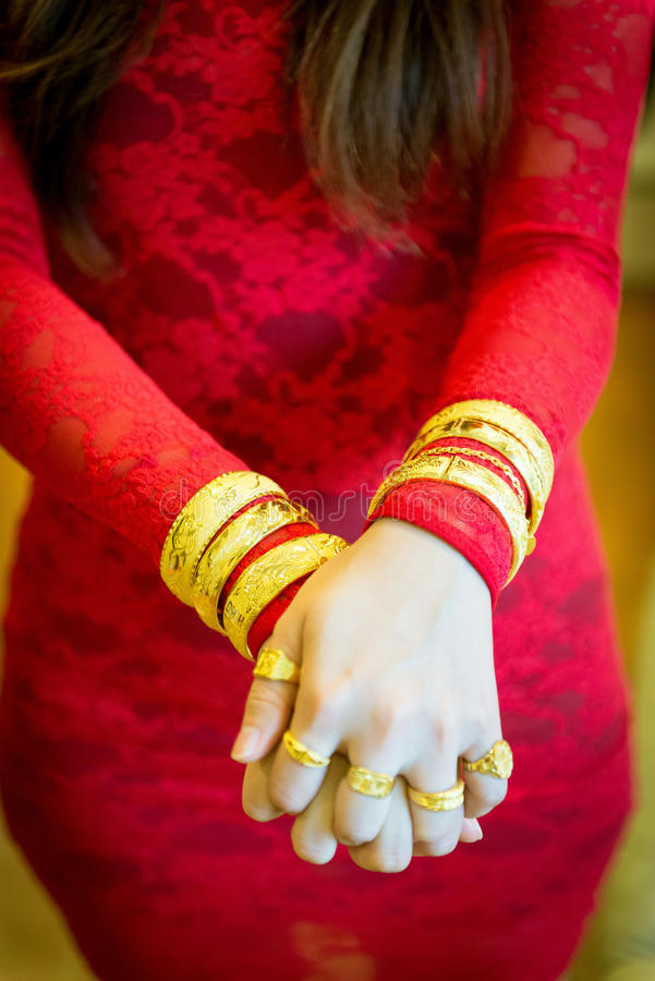 Chinese Wedding Gold Jewelry Stock Photo Image of gift