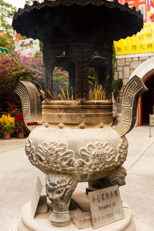 Chinese wierookpot royalty-vrije stock afbeelding