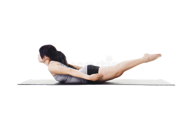Download Chinese woman doing yoga. stock image. Image of fitness - 22072231
