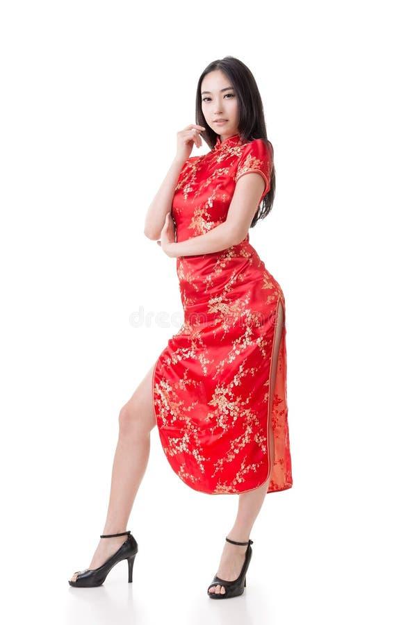 Free Chinese Woman Dress Traditional Cheongsam Stock Image - 36553541