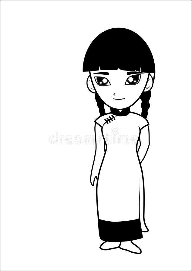 Download Chinese women cartoon stock vector. Illustration of female - 26584665