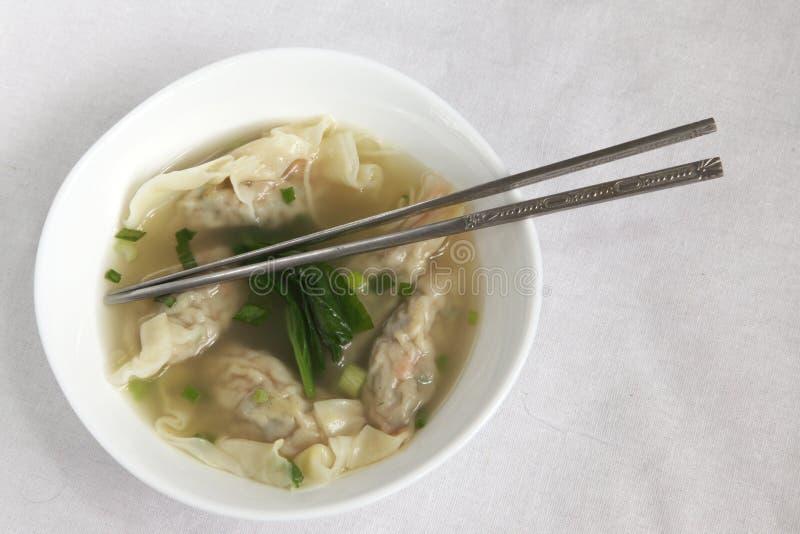 Chinese wonton dumplings stock image