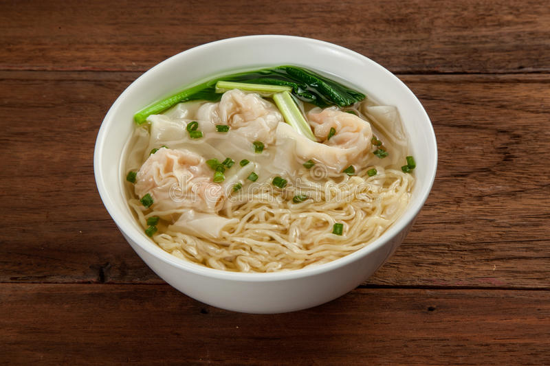 Chinese wonton soup noodle royalty free stock image