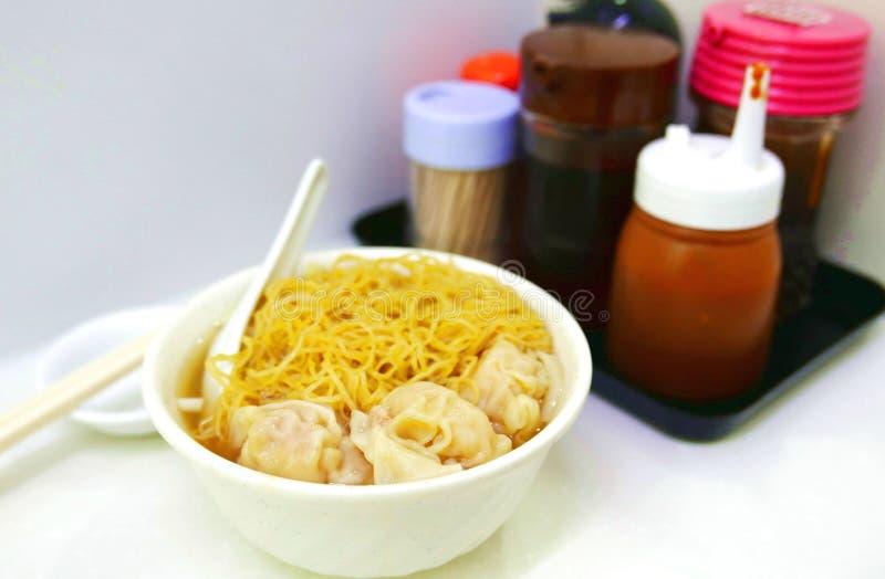 Chinese wontonnoedels stock afbeelding