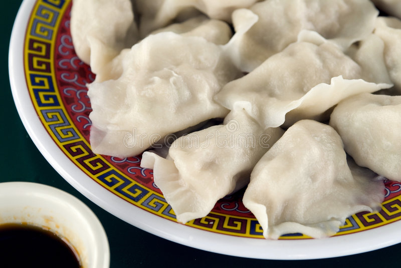 Chinese wontons stock photos