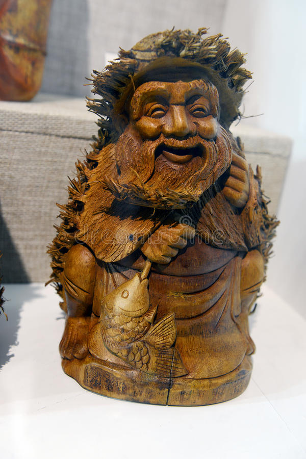 Chinese wood carving stock image