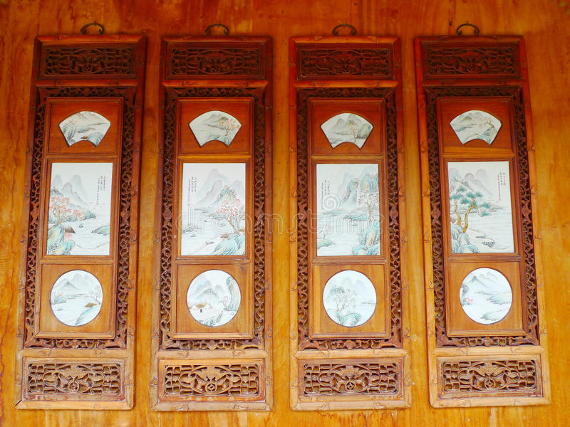 Chinese Wooden Arts Stock Photo
