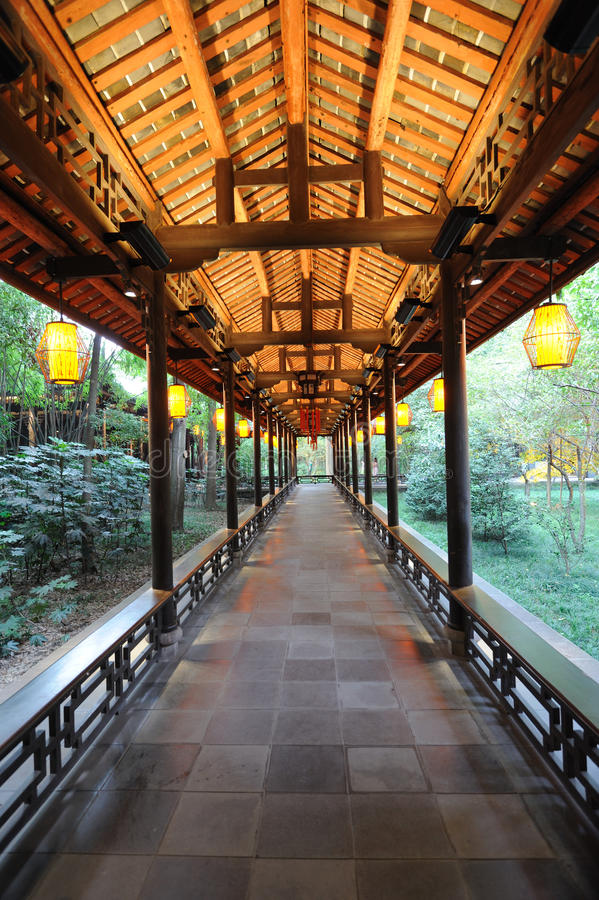 Free Chinese Wooden Corridor Stock Images - 25862364