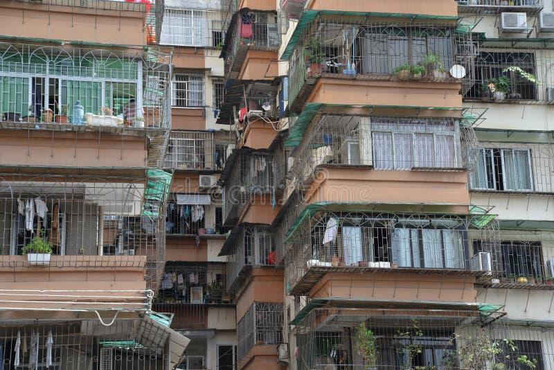 Chinese woonwijk in Guangzhou, China royalty-vrije stock foto's