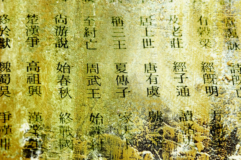Chinese words royalty free stock photo