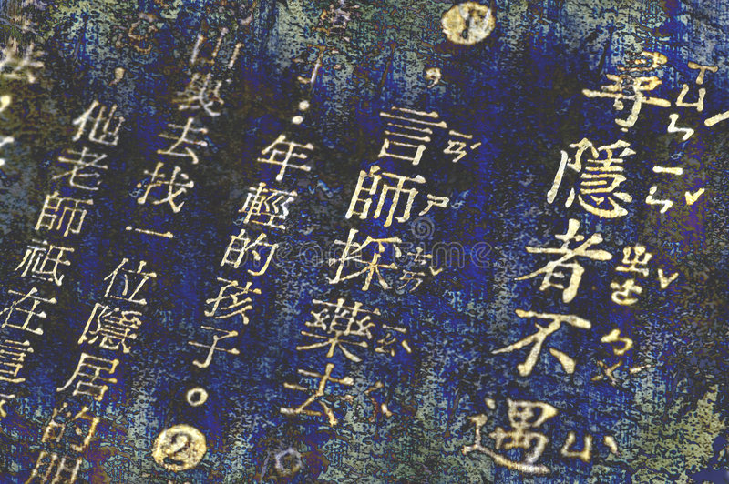 Chinese words stock images