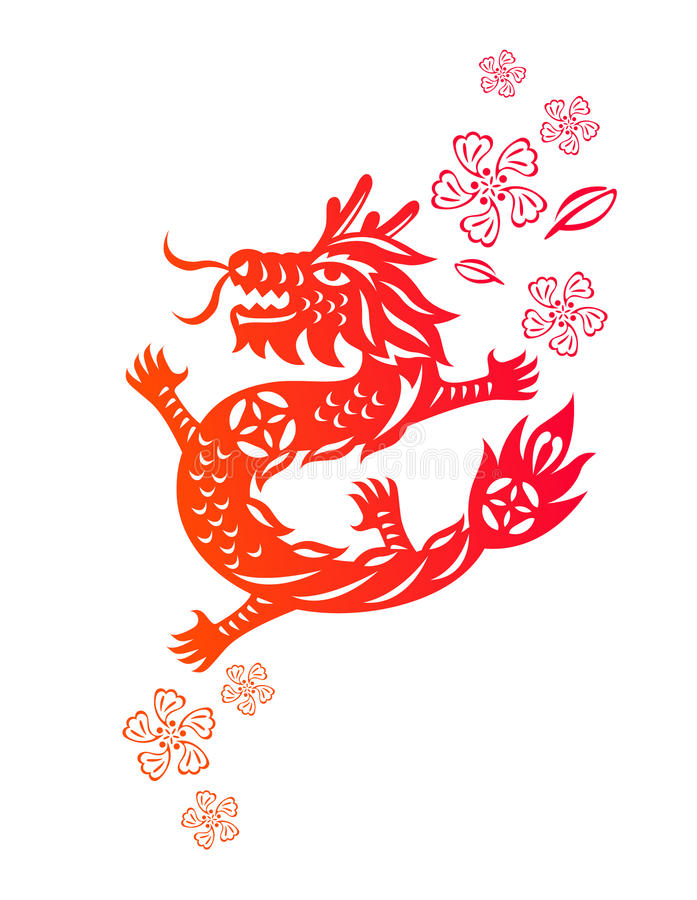 Download Chinese year of Dragon stock vector. Illustration of painting - 22299238