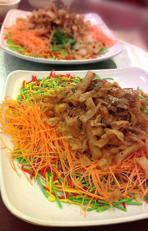 Chinese Yee Sang Prosperity Toss royalty free stock photos